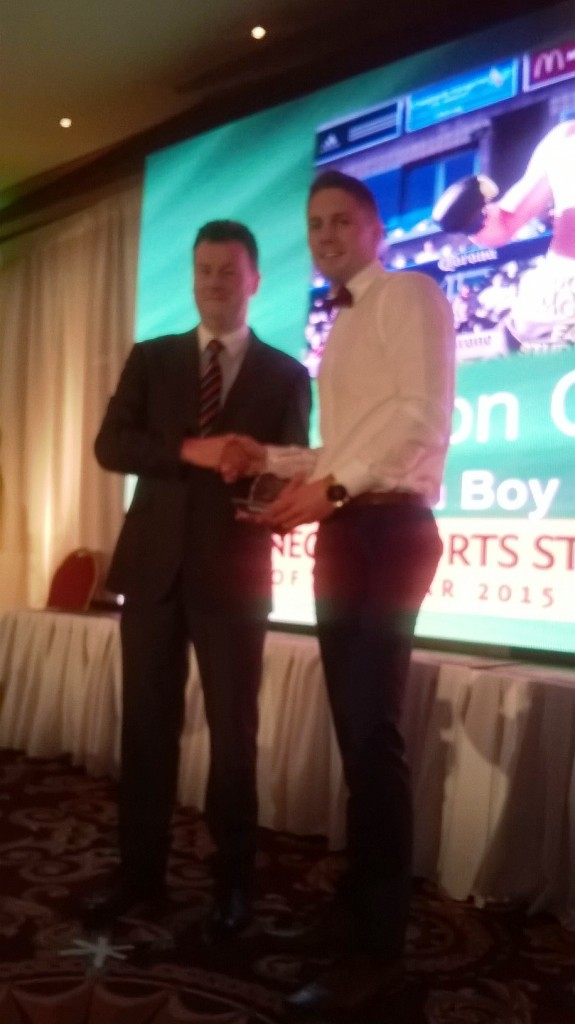Special recognition for Jason Quigley at the DSSA2015