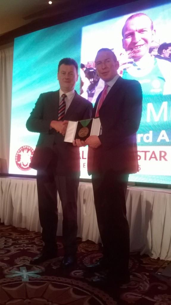 Kieran Murray winner of Transplant Athlete award at DSSA2015